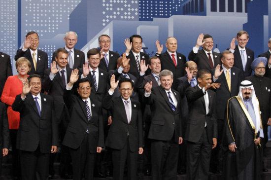 Reunión G-20 en Toronto, junio 2010