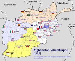 Distribución de tropas de la ISAF