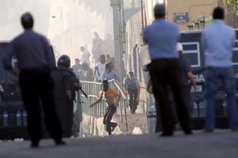Disturbios en Mellilla