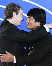 Rodríguez Zapatero y Evo Morales