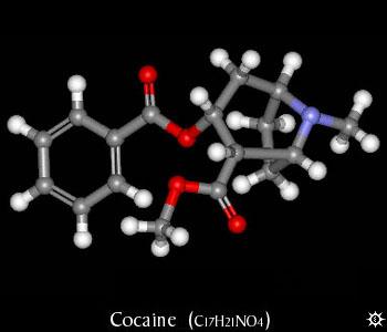 Molécula de cocaína