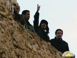 Gadafi en su última aparición en público ayer