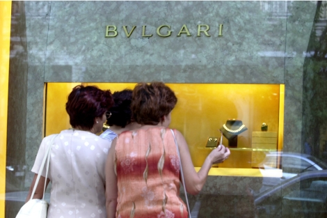 Escaparate de Bulgari en Londres